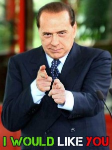 berlusconi come don chisciotte