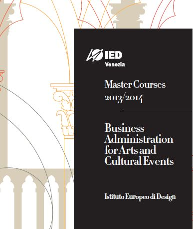 IED Venezia: al via il Master in Business Administration for Arts and Cultural Events