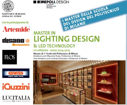 Aperte le iscrizioni al Master in Lighting Design & LED Technology
